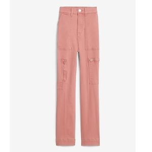 NWT Express Super High Waist Cropped Utility Pants